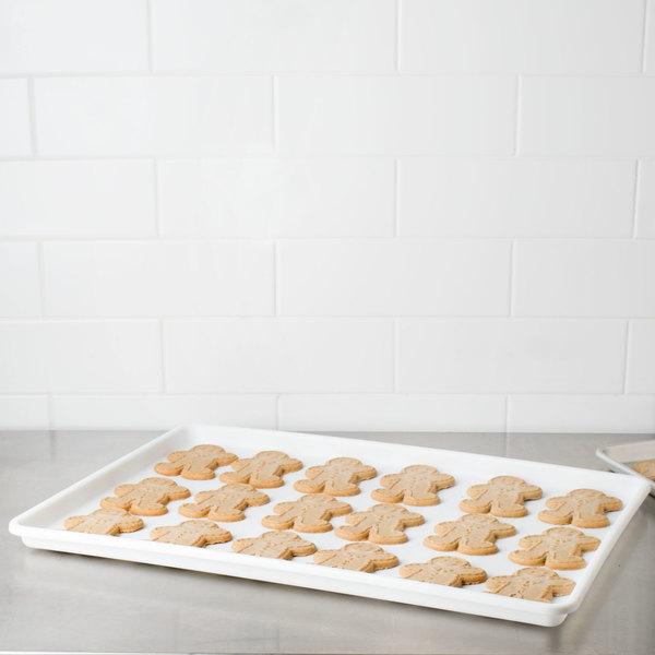 """Choice 18"""" x 26"""" White Bakery Display Tray"""