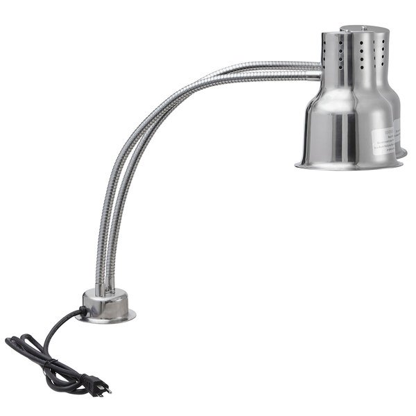 "Avantco HLDBL24SS 24"" Dual Arm Stainless Steel Heat Lamp - 120V, 500W Main Image 1"
