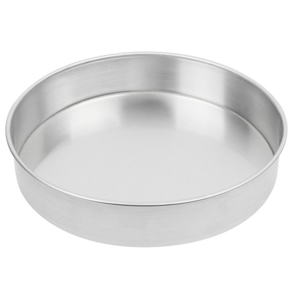 American Metalcraft A80102 10 inch x 2 inch Standard Weight Aluminum Straight Sided Deep Dish Pizza Pan