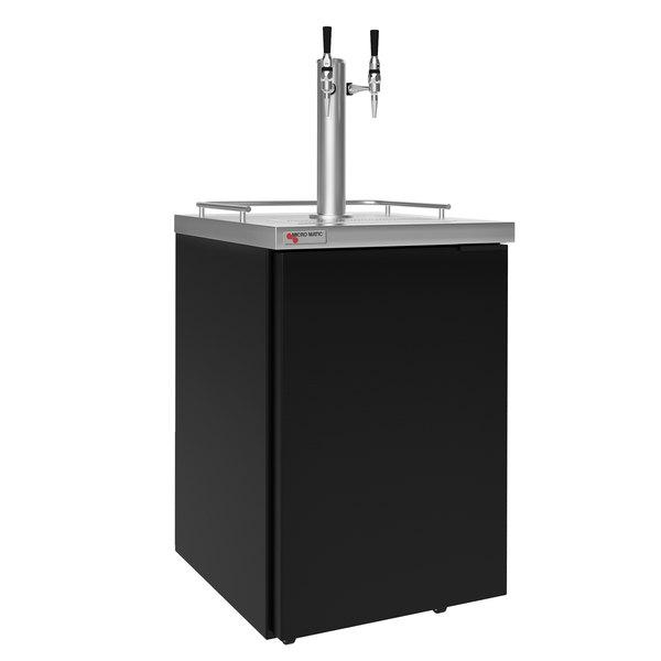 """Micro Matic MDD23-E-AMER Americano 25"""" Cold Brew Nitrogen Coffee Dispenser with 2 Taps Main Image 1"""