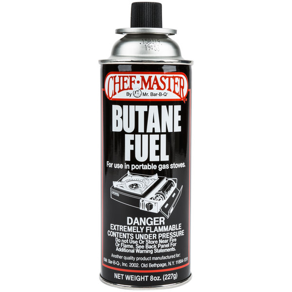 Chef Master Butane Fuel Refill 8 oz  Canister - 12/Case