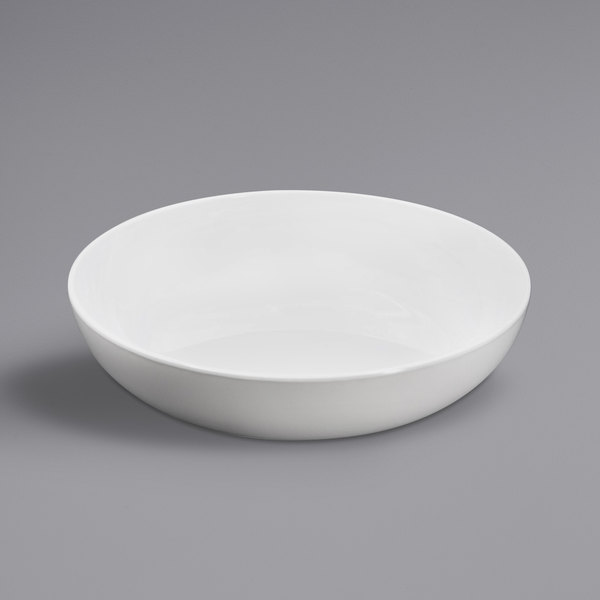 Elite Global Solutions B7752 Santorini White 30 oz. Round Melamine Coupe Bowl - 6/Case Main Image 1