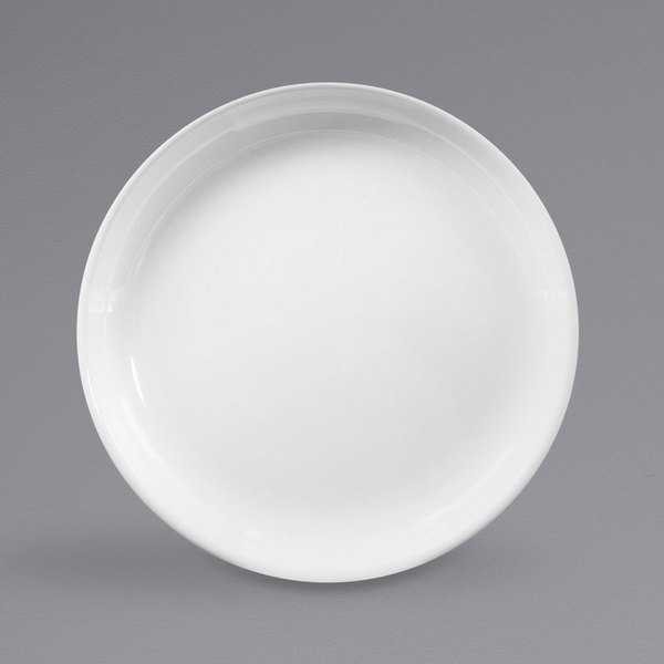 "Elite Global Solutions B75R Santorini White 7 1/2"" Round Melamine Coupe Plate - 6/Case Main Image 1"