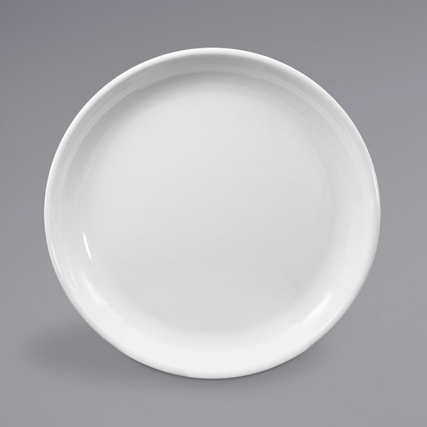 "Elite Global Solutions B1014R Santorini White 10 1/4"" Round Melamine Coupe Plate - 6/Case Main Image 1"