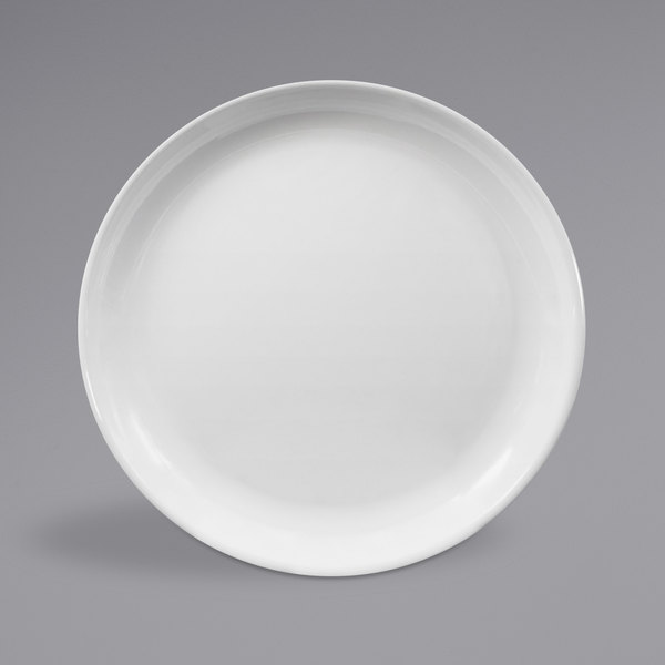 "Elite Global Solutions B95R Santorini White 9"" Round Melamine Coupe Plate - 6/Case Main Image 1"