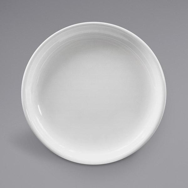 "Elite Global Solutions B65R Santorini White 6 1/2"" Round Melamine Coupe Plate - 6/Case Main Image 1"