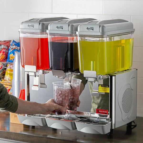 Avantco RDM33 Triple 3 Gallon Bowl Refrigerated Beverage Dispenser - 120V Main Image 5