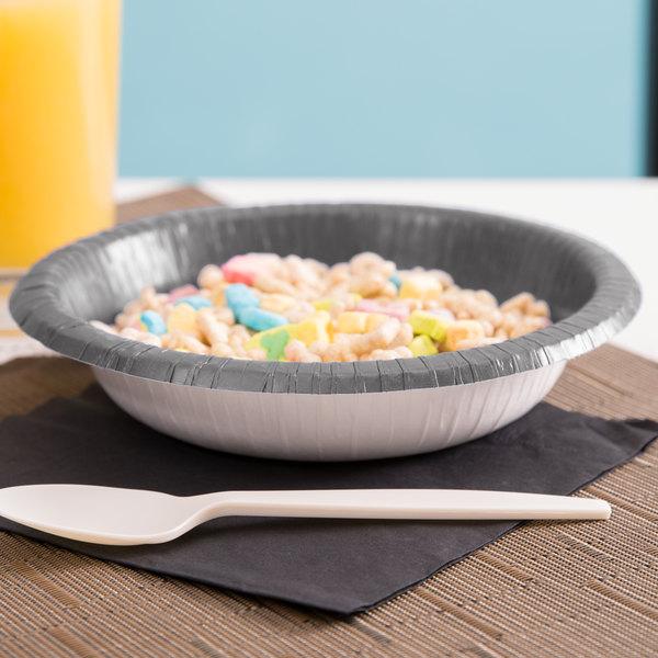 Creative Converting 339636 20 oz. Glamour Gray Paper Bowl - 200/Case Main Image 2