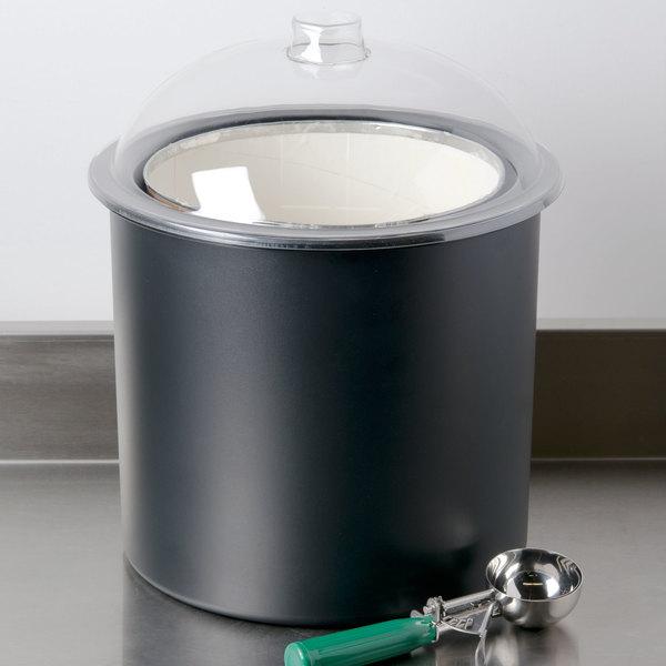 Carlisle CM101203 Black 3 Gallon Coldmaster Ice Cream Cold Crock with Lid Main Image 9