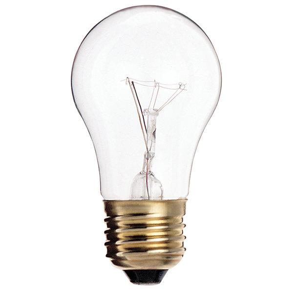 Satco S3810/TF 40 Watt Clear Finish Incandescent Light Bulb, 130V (A15) Main Image 1