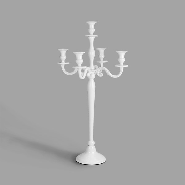 """Tabletop Classics by Walco LIW6931 One to Five-Light White Powder Coated Candelabra - 31"""" Main Image 1"""