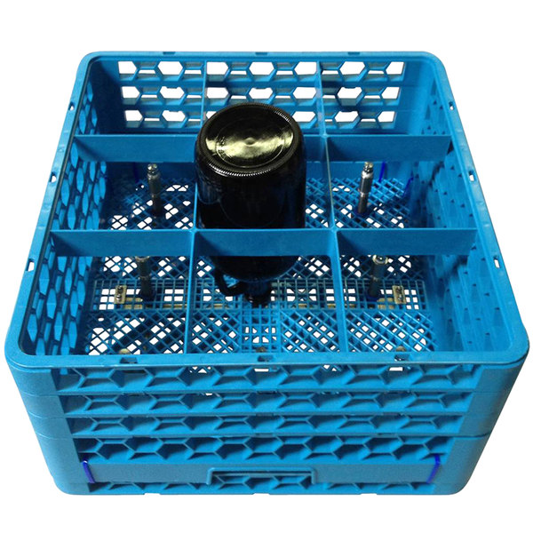 CMA Dishmachines 1155.00 9-Compartment Bottle Washer Rack for CMA-180UC Dishmachines Main Image 1
