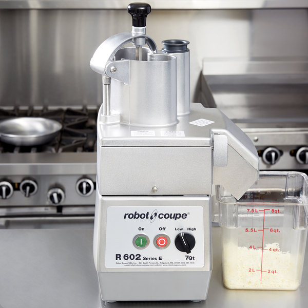 Robot Coupe R602 Combination Continuous Feed Food Processor with 7 Qt. Stainless Steel Bowl - 3 hp Main Image 19