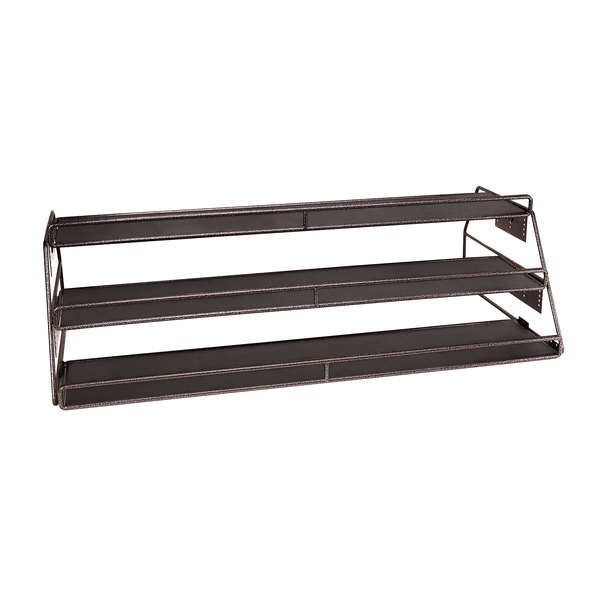 """Delfin DS-48243-V07 Simply Steel 48"""" x 15 1/2"""" Adjustable Bronze Three Shelf Merchandiser"""