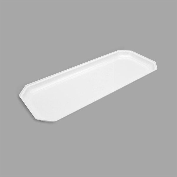 "Delfin ICC-208-20 Cut Corner White 20"" x 8"" x 1"" Rectangular Acrylic Bowl Insert"