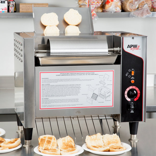 APW Wyott M-2000 Vertical Conveyor Bun Grill Toaster - 208V Main Image 10