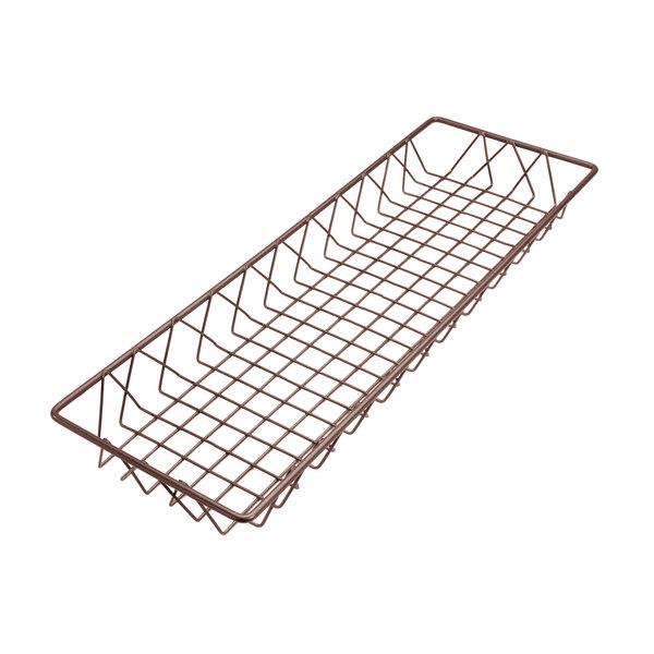 "Delfin WBK-248-PC65 Simply Steel 24"" x 8"" x 2"" Rust Wire Bakery Basket Main Image 1"