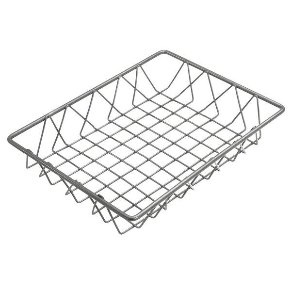 """Delfin WBK-129-PC62 Simply Steel 12"""" x 9"""" x 2"""" Steel Wire Bakery Basket Main Image 1"""