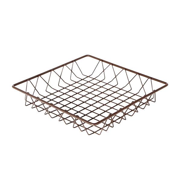 "Delfin WBK-12-PC65 Simply Steel 12"" x 12"" x 2"" Rust Wire Bakery Basket Main Image 1"