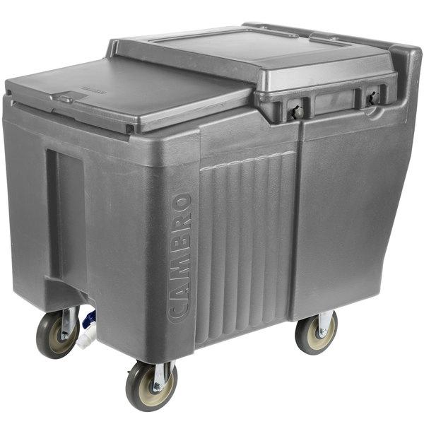 Cambro ICS125L191 SlidingLid™ Granite Gray Portable Ice Bin - 125 lb. Capacity