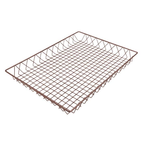 "Delfin WBK-2418-PC65 Simply Steel 24"" x 18"" x 2"" Rust Wire Bakery Basket Main Image 1"