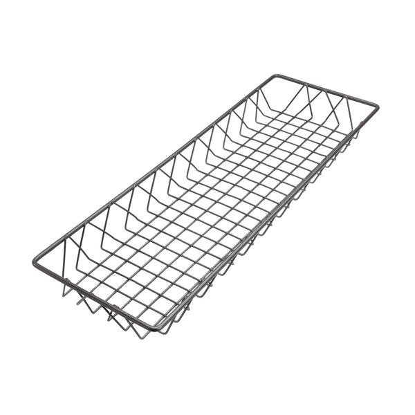 """Delfin WBK-248-PC62 Simply Steel 24"""" x 8"""" x 2"""" Steel Wire Bakery Basket Main Image 1"""