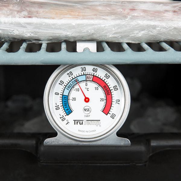 "Taylor 3507 TruTemp 2"" Refrigerator / Freezer Dial Thermometer"