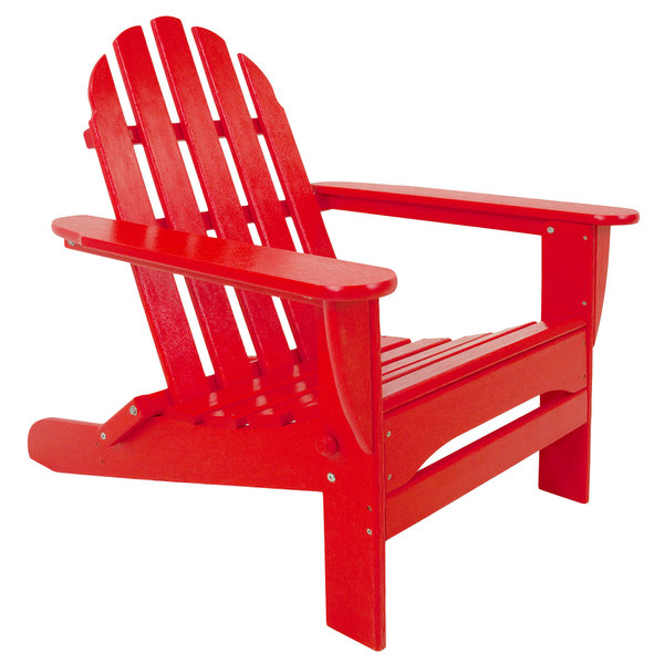 Magnificent Polywood Ad5030Sr Sunset Red Classic Folding Adirondack Chair Squirreltailoven Fun Painted Chair Ideas Images Squirreltailovenorg