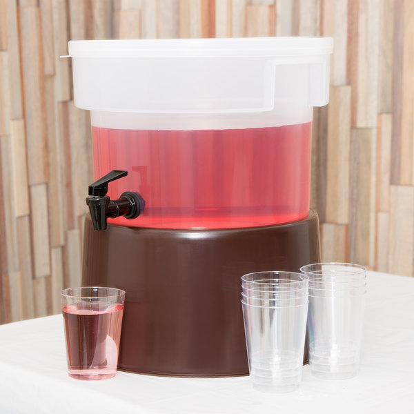 Carlisle 222701 3 Gallon See-Thru Round Beverage Dispenser with Base Main Image 3