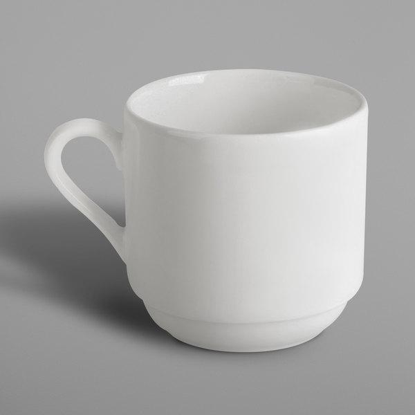 RAK Porcelain BACU20 Banquet 6.8 oz. Ivory Porcelain Tall Stackable Cup - 12/Case