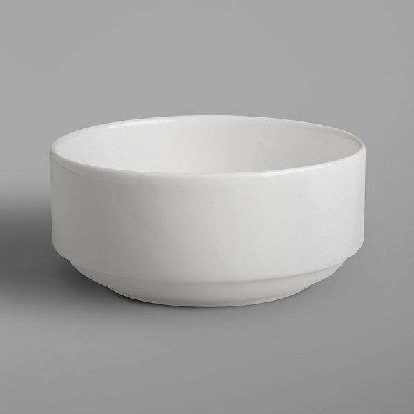 RAK Porcelain BACS01 Banquet 10.2 oz. Ivory Porcelain Bowl - 6/Case