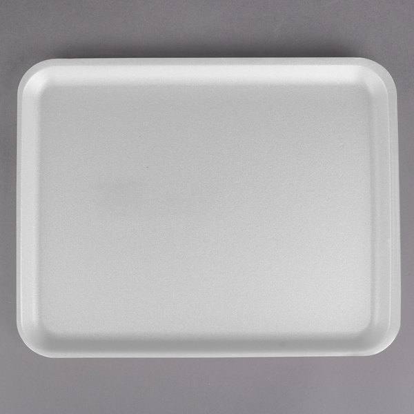 CKF 88136 (#38/8S) White Foam Meat Tray 10 inch x 8 inch x 1/2 inch - 500/Case