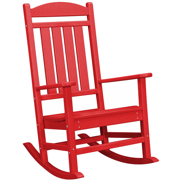Main Picture; video; video  sc 1 st  WebstaurantStore & POLYWOOD R100SR Sunset Red Presidential Rocking Chair