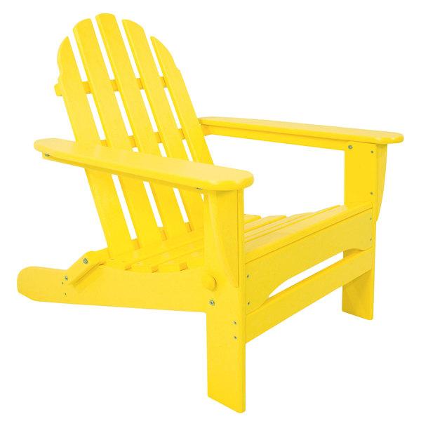 POLYWOOD AD5030LE Lemon Classic Folding Adirondack Chair Main Image 1