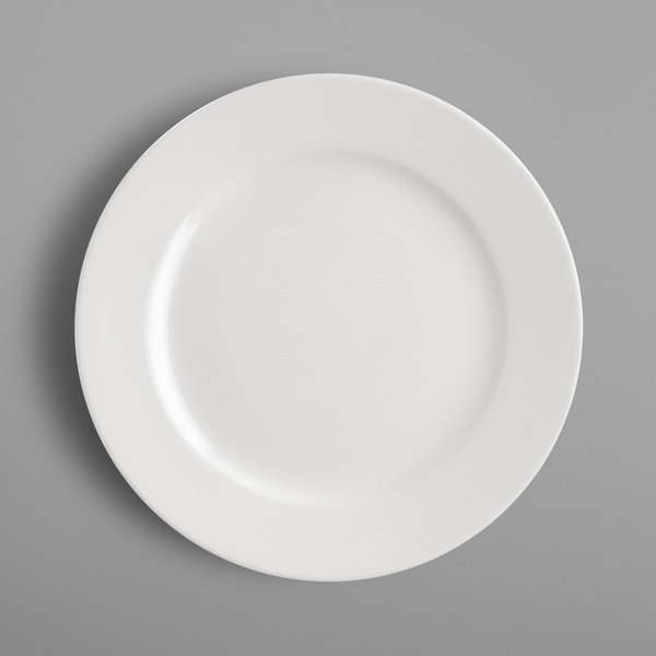 "RAK Porcelain BAFP21 Banquet 8 1/4"" Ivory Porcelain Flat Plate - 24/Case"