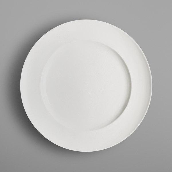 "RAK Porcelain CLFP28 Classic Gourmet 11"" Ivory Porcelain Flat Plate - 12/Case"