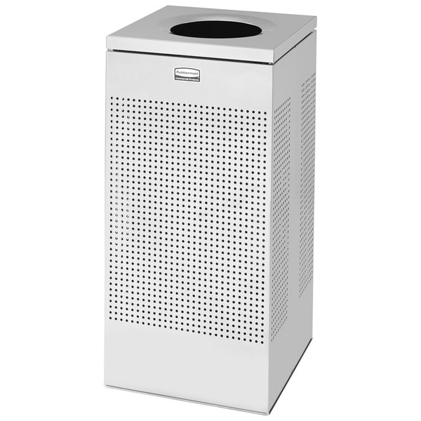Rubbermaid FGSC14SSRB Silhouettes Stainless Steel Designer Waste Receptacle - 24 Gallon