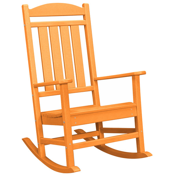 POLYWOOD R100TA Tangerine Presidential Rocking Chair Main Image 1
