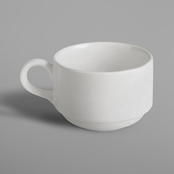 RAK Porcelain BACU23 Banquet 7.8 oz. Ivory Porcelain Stackable Cup - 12/Case