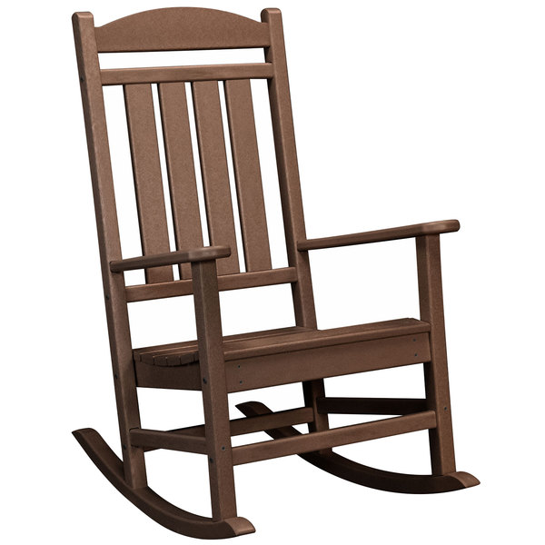 Strange Polywood R100Ma Mahogany Presidential Rocking Chair Ocoug Best Dining Table And Chair Ideas Images Ocougorg