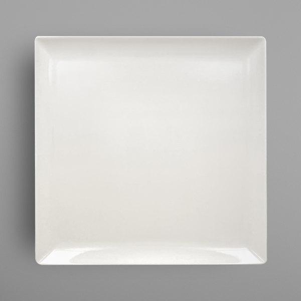 """RAK Porcelain EDSQ30IV Nano 12"""" Ivory Porcelain Square Coupe Plate - 6/Case"""
