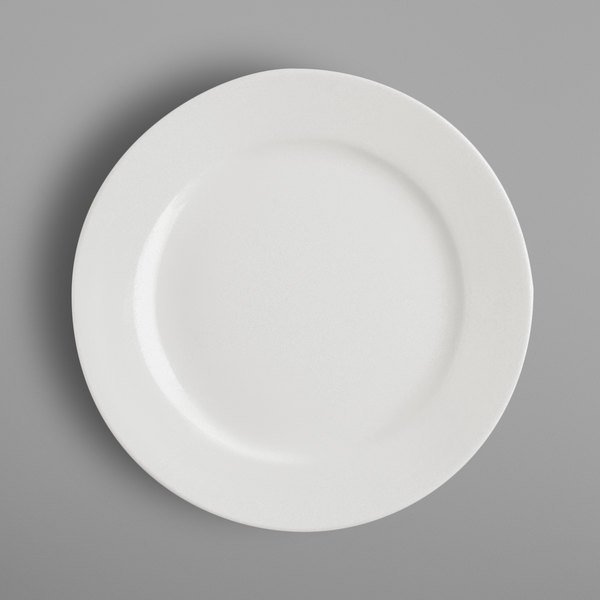 "RAK Porcelain BAFP28 Banquet 11"" Ivory Porcelain Flat Plate - 12/Case Main Image 1"
