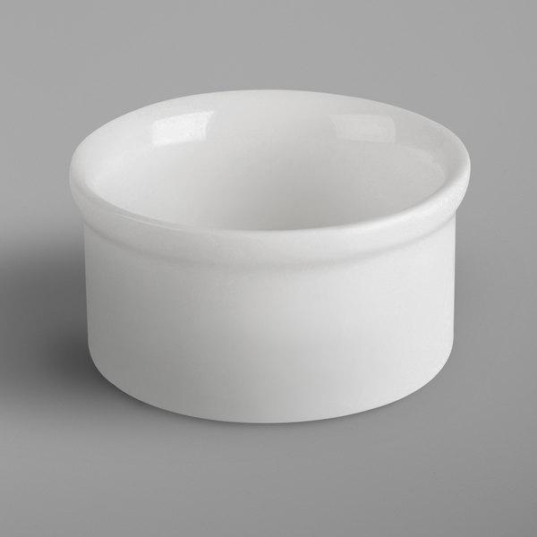 RAK Porcelain BABR05 Banquet 1.4 oz. Ivory Porcelain Round Ramekin - 12/Case Main Image 1