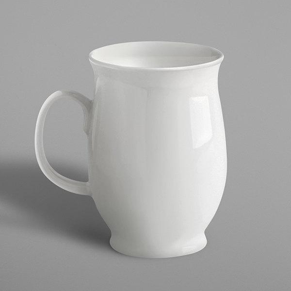 RAK Porcelain BALMG30 Banquet 10.2 oz. Ivory Porcelain Lotus Mug - 6/Case