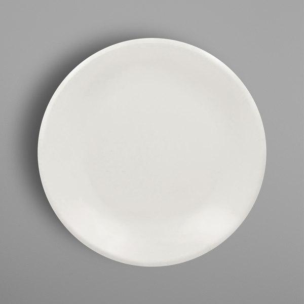 """RAK Porcelain BAPP27 Banquet 10 1/2"""" Ivory Porcelain Pizza Plate - 12/Case Main Image 1"""