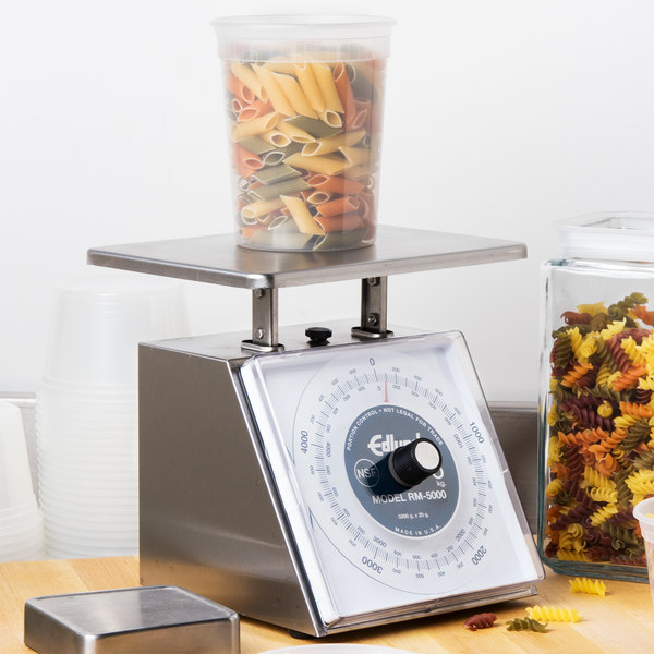 """Edlund RM-5000 Four Star Series 5000 g Metric Portion Scale with 7 3/4"""" x 7 1/2"""" Platform"""