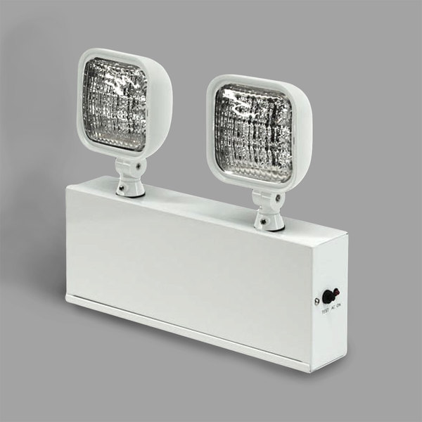 Lavex Industrial Remote Capable Dual Head Led Emergency Light With Steel Housing And Battery Backup