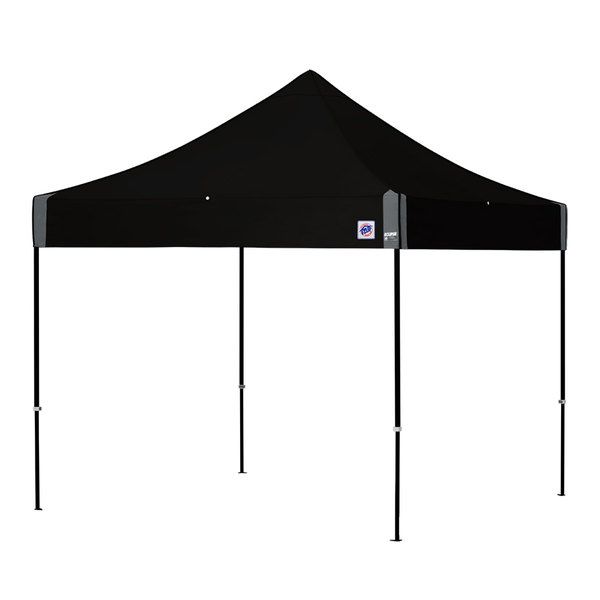 E-Z Up EC3STL10KFBKTBK Eclipse Instant Shelter 10' x 10' Black Canopy with Black Frame Main Image 1