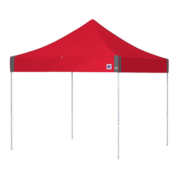 E-Z Up EC3STL10KFWHTPN Eclipse Instant Shelter 10' x 10' Punch Canopy with White Frame Main Image 1
