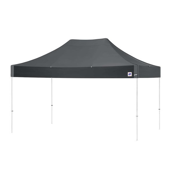 E-Z Up EC3STL15KFWHTSG Eclipse Instant Shelter 10' x 15' Steel Gray Canopy with White Frame Main Image 1